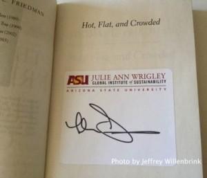 asu-thomas-friedman-sustainability-autograph